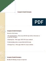 Inorganic Growth Strategies
