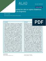 CAlidad de Vida Diabéticos Argentina