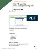 VBA for Beginners_ VBA Userforms - Online PC Learning