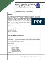 Appendix 13 - Questionnaire