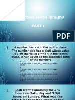 milestone math review part 1