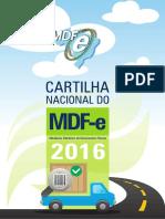 Cartilha Mdfe Nacional Agosto 2016