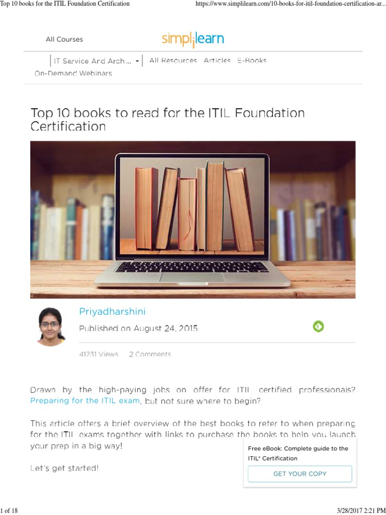 Top 10 Books For The Itil Itil Information Technology