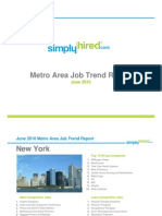 June 2010 Metro Area Job Trends Report