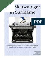 Den Blauwvinger Columns 2016 de Surinaamse Krant