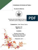 Revision Ensayo Avances de Tecnologia en Las Pruebas de Laboratorio Para El Diagnostico Medico
