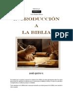 Introduccion a La Biblia Para PDF