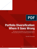 Portfolio Diversification -- Where It Goes Wrong