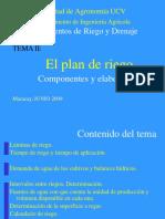Plan de Riego