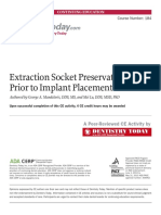Extraction Socket Preservation