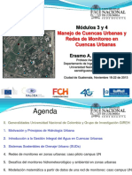 Modulo 3 y 4.Manejo de Cuencas Urbanas y Redes de Monitoreo