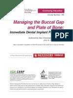Managing the Buccal Gap