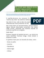 CURA PELA NATUREZA - Remédio Contra Dores Nas Articulações