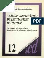 Analisis Biomecanico de Las Tecnicas Deportivas