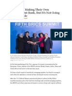BRICS Are Making Their Own Development Bank