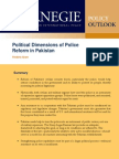 Political Dimensions of Police Reform in Pakistan