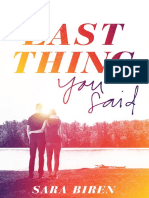THE LAST THING YOU SAID Chapter Sampler