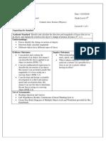 free body diagram lesson plan  1