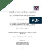 Tesis Determinacion de Los Costos de Calidad en El Proceso Productivo de La Leche
