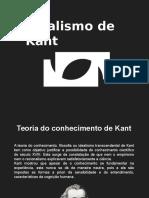 Idealismo transcendental de Kant