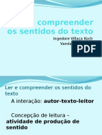 Ler e Compreender Os Sentidos Do Texto