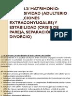Tema b.3. Matrimonio, Exclusividad y Estabilidad