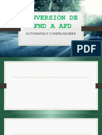 Conversión de Afnd a Afd