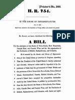 House of Representatives bill, 1866