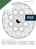 Mandala de Numeros Enteros