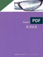 Brewer,Gene [K PAX 1]K Pax,L'Homme Qui Vient de Loin(1995).OCR.french.ebook.alexandriZ