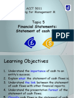 Topic 5 Cash Flow Statement