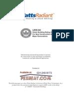 Watts Radiant LEED-NC Green Building Applications