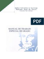 Manual de Grado Antonio Jose de Sucre 2006 2