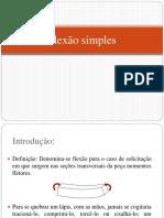 1- Flexão Simples