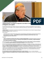 Cardenal Burke_ Si El Papa No Responde a Las Dubia Lo Harán Los Cardenales Desde El Magisterio de La Iglesia