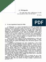 A Técnica de Chefia e Liderança - Delegação, Cap.9