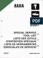 Catalogo Herramientas especializada Yamaha