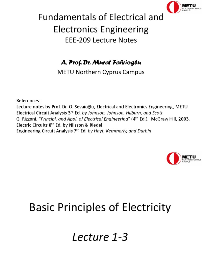 EEE 209 Presentation 2 (Electrical Circuits) | Electrical Resistance And  Conductance | Electric Current