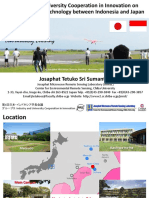 Industry and University Cooperation in Innovation on Remote Sensing Technology between Indonesia and Japan