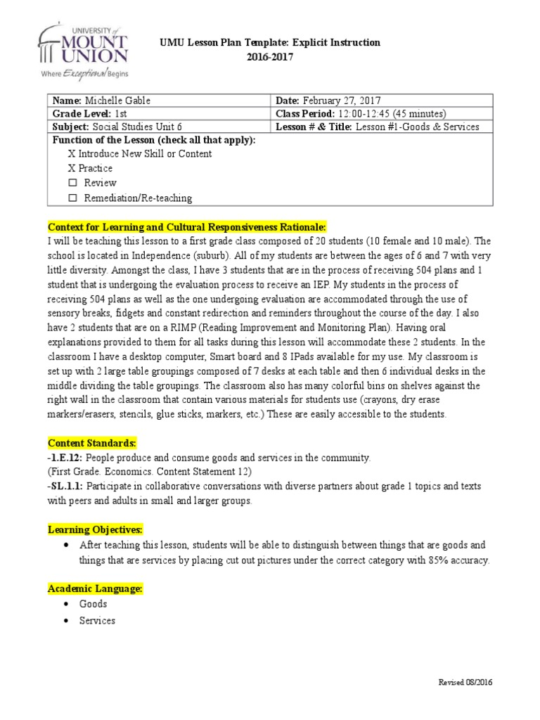 Worksheets Goods And Services Worksheet edtpa ss lesson 1 goods services educational assessment classroom