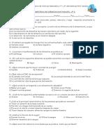 Evaluación Semestral de Ciencias Naturales 111