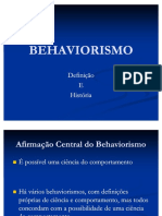 04 BEHAVIORISMO Definicao e Historia