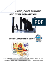 02 - Cyber Stalking, Cyber Bullying and Cyber Defamation