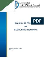 Manual de Politicas de Gestion Institucional