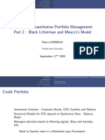 Models for Quantitative Portfolio Management - Part 2 Black Litterman and Meucci's Model