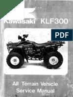 Kawasaki Bayou 300 Service Manual Repair