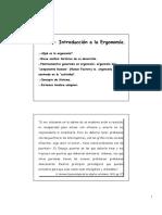 IntroducciónErgonomía