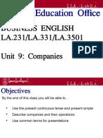 Business English - Companies