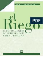 El riego II. fundamentos de su hidrológica y su practica