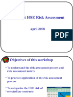 Example Contract HSE Risk Assessment